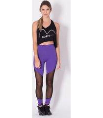 calça legging go fit rio fitness perna /tela