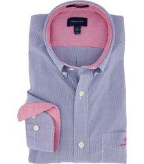 gant regular fit overhemd blauw gestreept