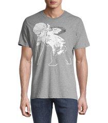 prps men's central cherub graphic t-shirt - black - size l