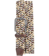 men's big & tall torino woven belt, size 46 - brown multicolor