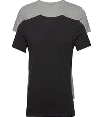 bhnick tee 2 pack noos t-shirts short-sleeved svart blend