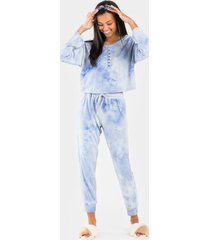 rowlie tie-dye sweatpants - chambray