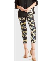 pantalón estampado flor liola