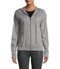 zadig & voltaire women's studded skull merino wool hoodie - grey - size l