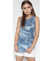 racer high neck tank - l ocean camo