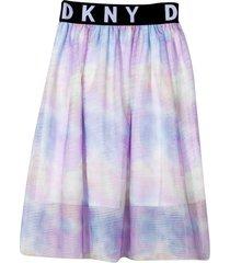 dkny tie dye patterned skirt