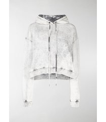 stella mccartney cropped acid wash hoodie