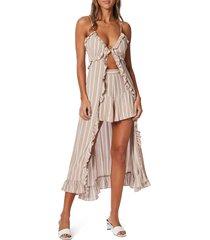 women's minkpink wanderlust ruffle cami dress