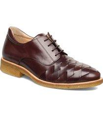 shoes - flat snörade skor låga brun angulus