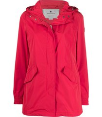 woolrich summer parka coat - red
