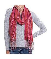 alpaca blend scarf, 'vibrant chevrons' (peru)