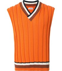 coohem good summer knitted vest - orange