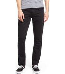 men's blanknyc wooster slim fit jeans, size 38 - black