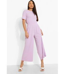 tall cullotte jumpsuit met open rug, lilac