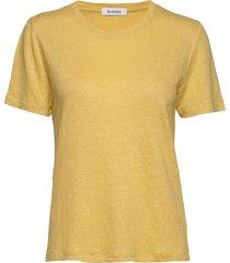 ninja linen t-shirts & tops short-sleeved geel rodebjer