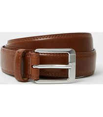 river island mens tan ri monogram belt