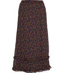 alminagz skirt ma19 knälång kjol multi/mönstrad gestuz