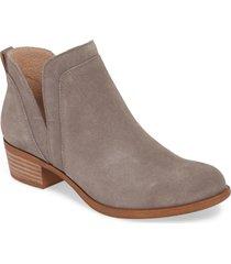 women's lucky brand bebhina waterproof western bootie, size 10 m - grey