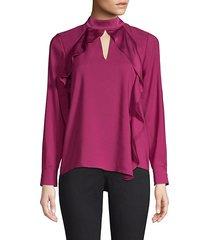 ciani cascading ruffle blouse