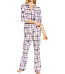 women's ugg raven flannel pajamas, size x-small - pink