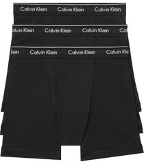calvin klein 3-pack boxer briefs, size large in black at nordstrom