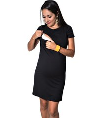 vestido mundo gestante amamentação top preto