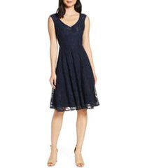women's eliza j lace fit & flare dress