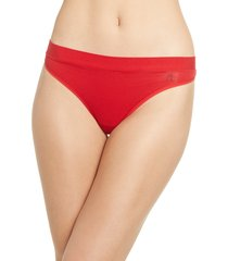 women's tommy john cool cotton thong, size small - red