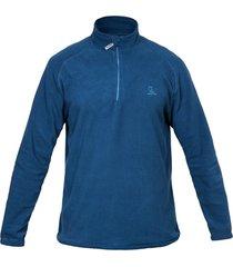 blusa curtlo zip thermofleece - . azul gg