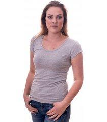 claesens women t-shirt round neck s/s grey ( cl 8015 )