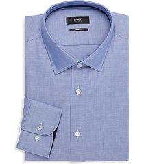 slim-fit printed dress shirt
