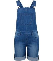 salopette corta in jeans elasticizzato (blu) - john baner jeanswear