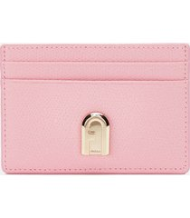 furla women's 1927 small credit card case - pink
