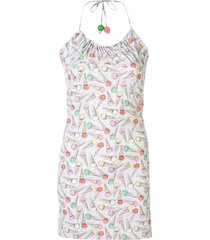 chanel pre-owned halter neck sleeveless one piece dress - white