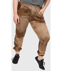 pantalón marrón minari batik plus size