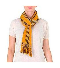 cotton scarf, 'summer blues' (guatemala)
