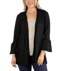 24seven comfort apparel cozy bell sleeve women cardigan