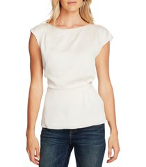 vince camuto extended-shoulder cinched-waist blouse