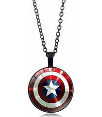 collar dije escudo capitan america los vengadores endgame negro