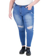 gogo jeans trendy plus size super-high-rise curvy distressed jeggings