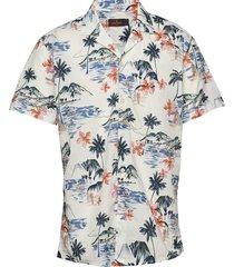 david bowling shirt overhemd met korte mouwen wit morris