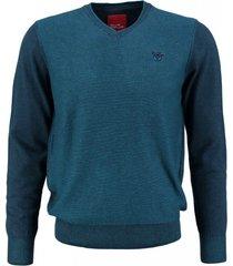 bluefields trui katoen groenblauw
