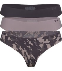 ps thong 3pack print stringtrosa underkläder lila under armour