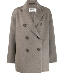 acne studios short double-breasted coat - grey