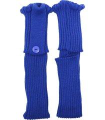 polaina ayron fitness max lã com botão azul