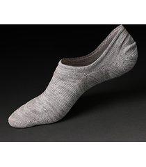 calzini per barche traspiranti del cotone degli uomini calze invisibili di colore solido non scivoloso