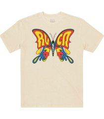 men's swallowtail screen print short sleeve t-shirt