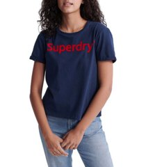 superdry flock boxy t-shirt