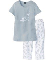 pigiama con pinocchietto (argento) - bpc bonprix collection