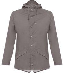 rains smoke waterproof hooded jacket 1201-48